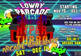 Lowry Parcade Super Hyper Turbo Arcade Giveaway