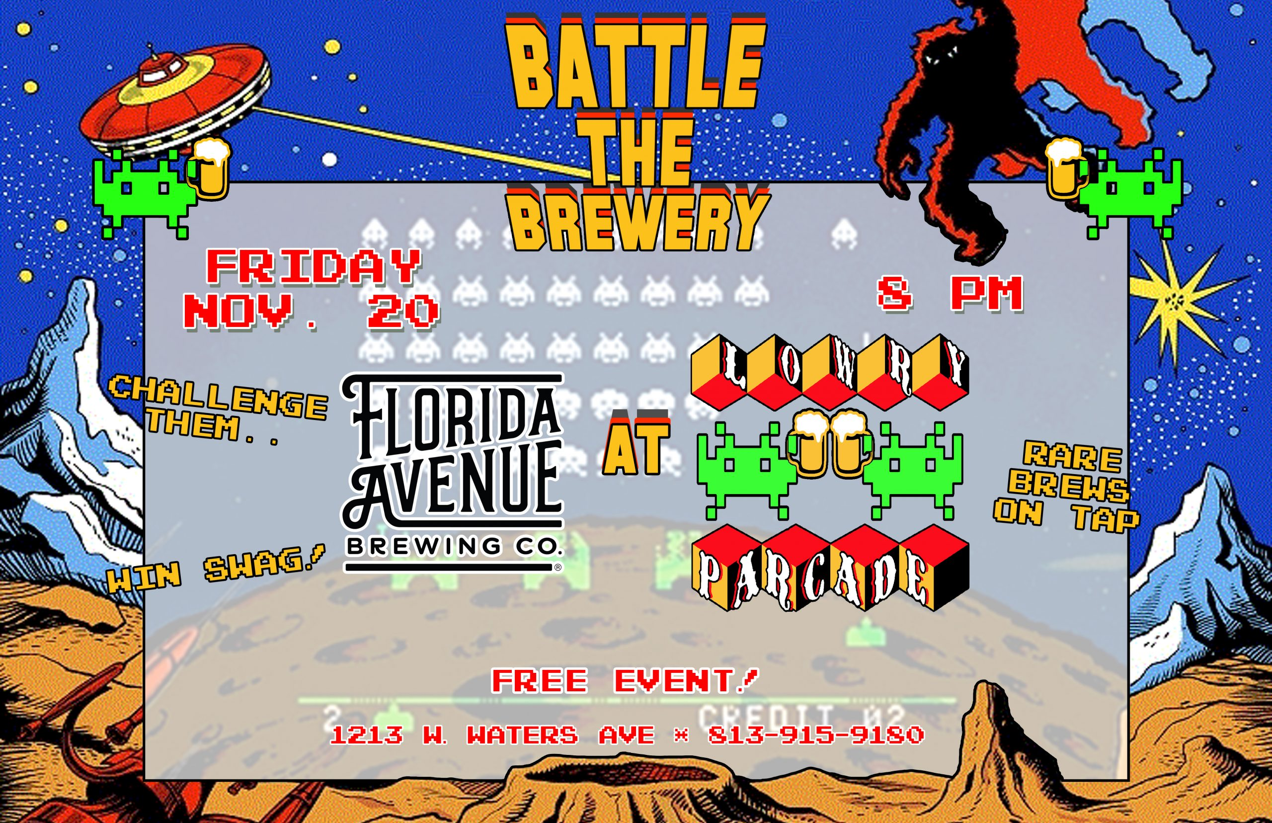 Battle The Brewery – Florida Avenue Brewing Co. – Friday, 11/20/20 – 8 PM