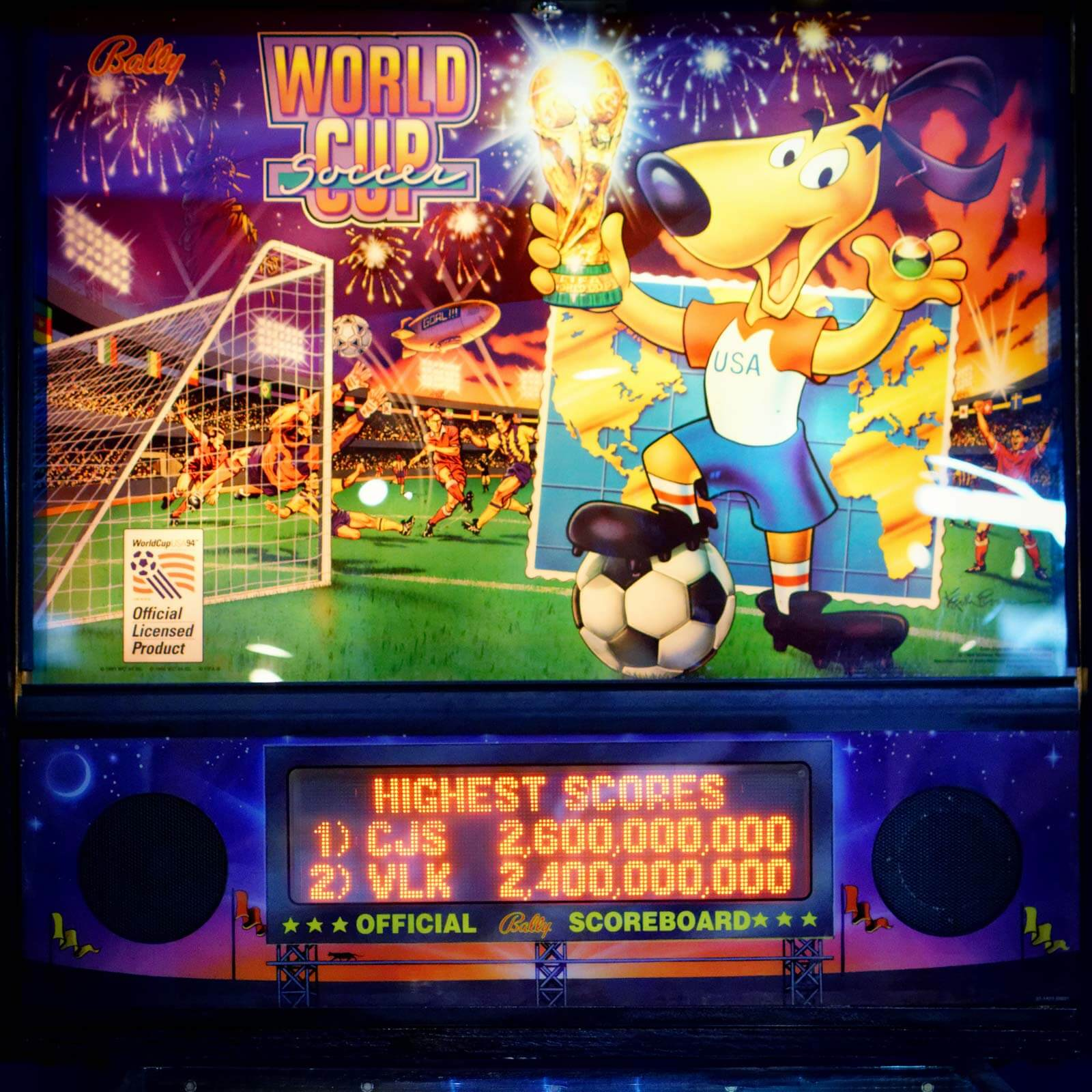 World Cup Soccer Pinball