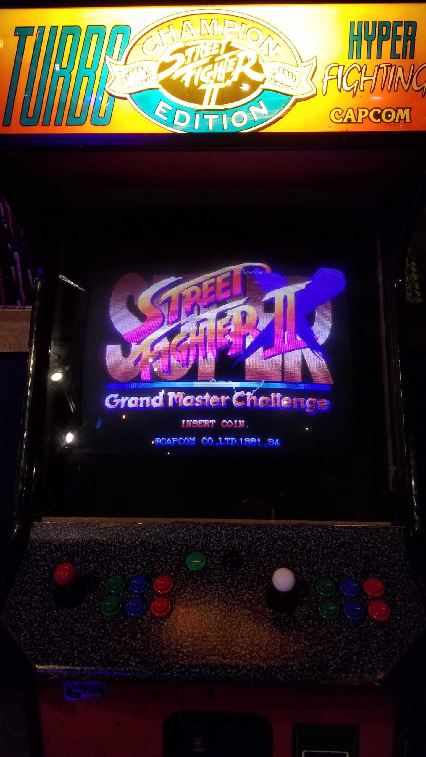 street fighter 2 turbo arcade machine